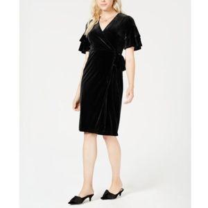 Maison Jules Velvet Wrap Dress